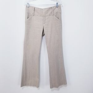 Alice + Olivia Linen Blend Wide Leg Pants